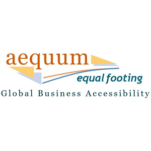 Aequum Logo: Equal Footing, Global Business Accessibility