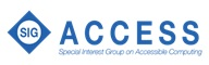Special Interest Group on Accessible Computing (SigAccess) Logo