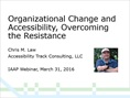 Organizational Change, Overcoming the Resistance (Webinar icon thumbnail)